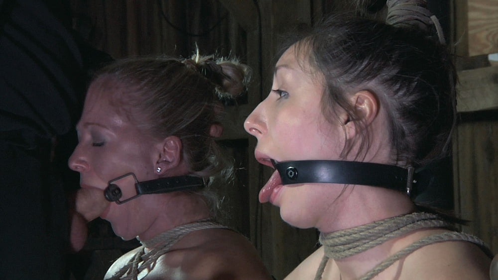 Gagged Bound Blonde Fucked With Dildo