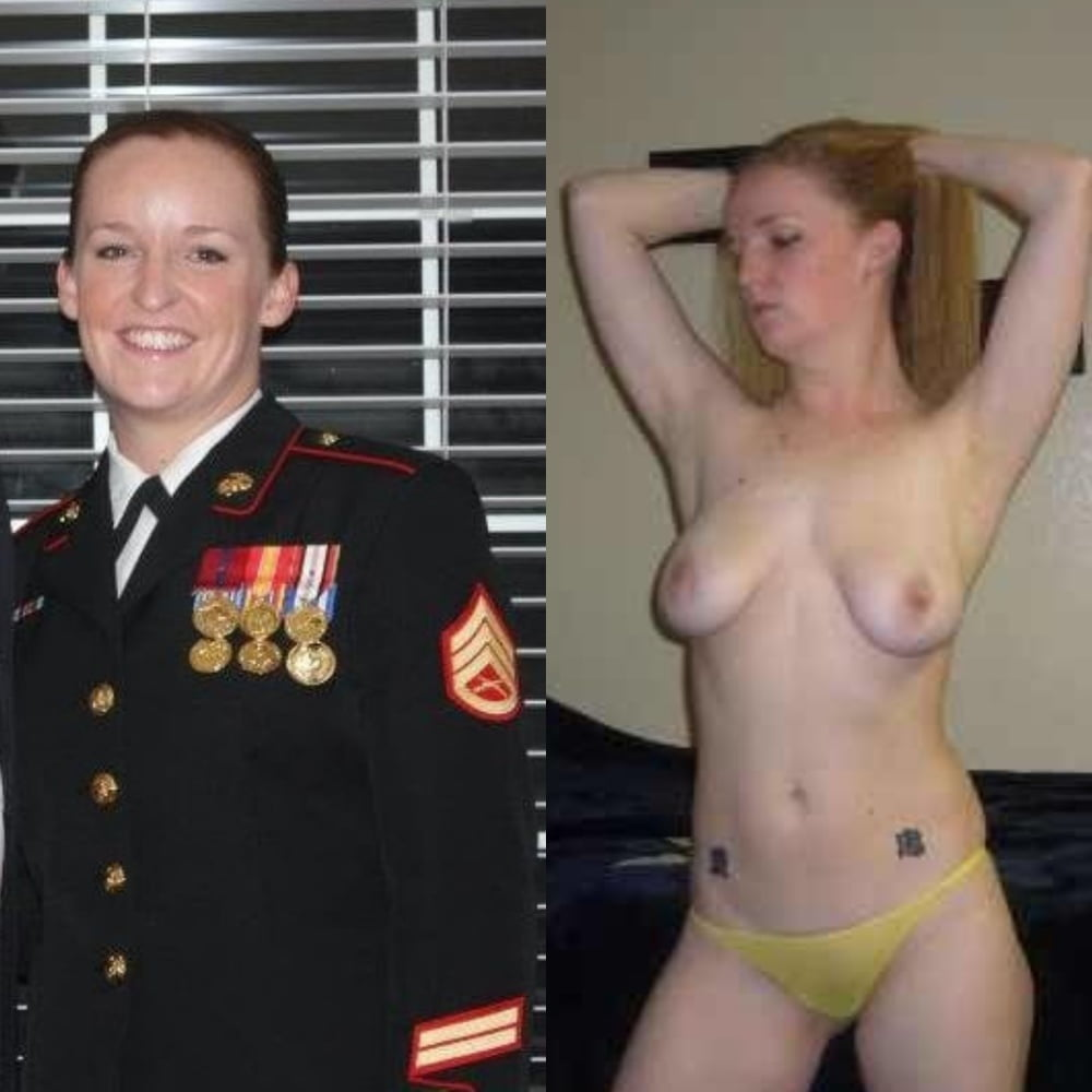 Military girls getting undressed