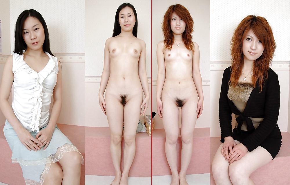 Две японочки раздеваются перед камерой
