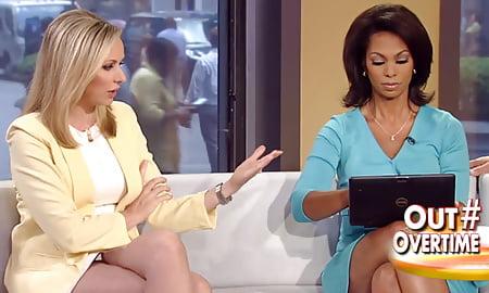 upskirt women Tv ancore