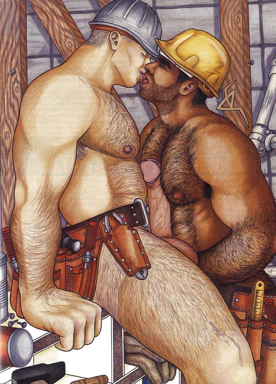 Retro gay erotic art