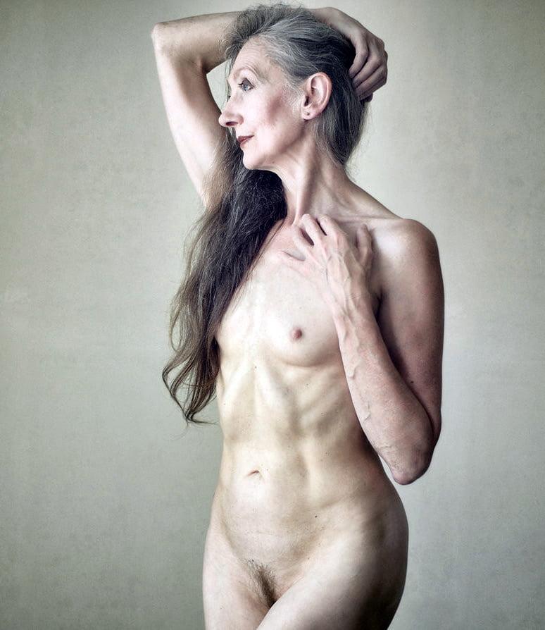 Nude older women gray hair mature