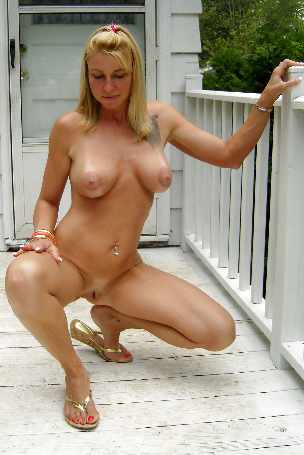 Sexy nude girl in slippers — img 6