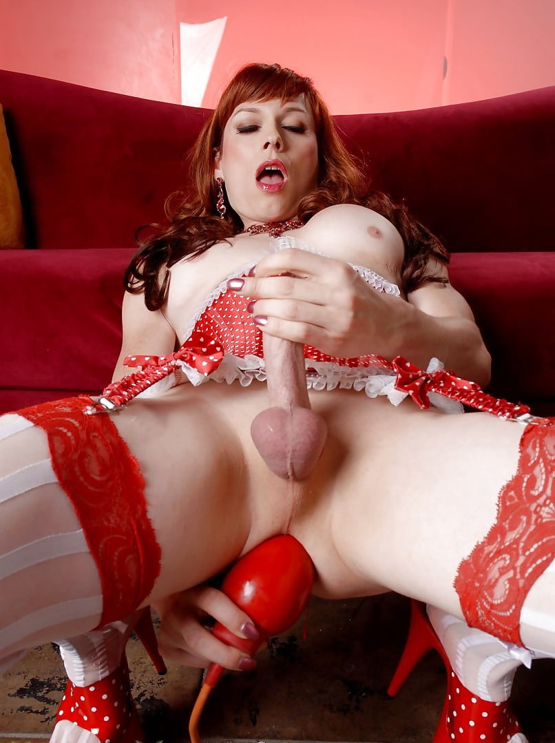 Two shemales dildo, panty pussy cocks