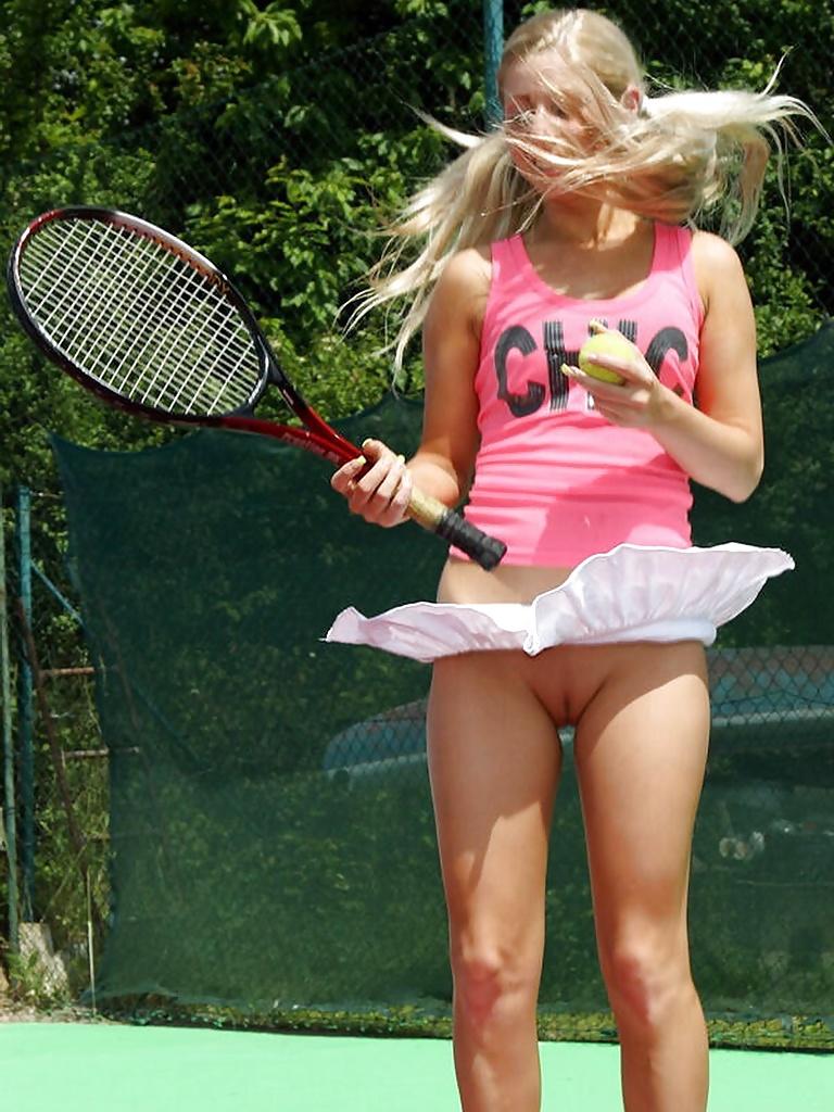 Hot female tennis upskirt