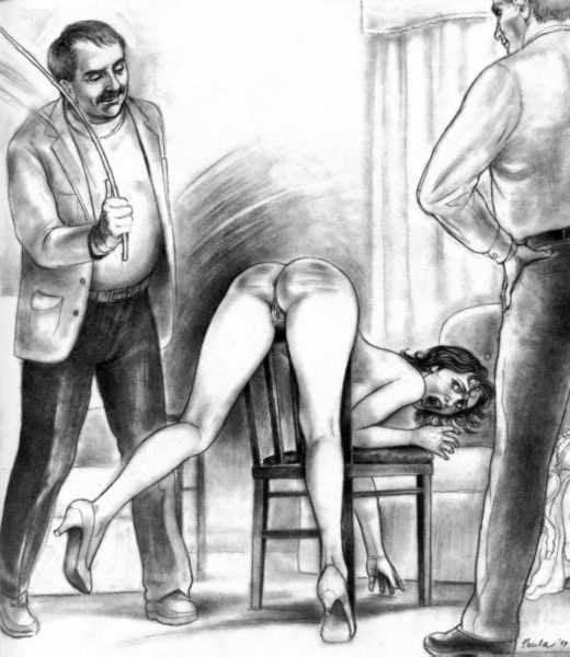 worki Gay spanking art