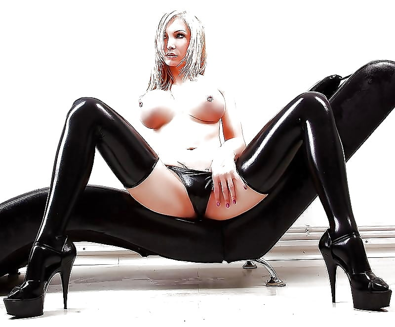 Alluring Sharon Sloane Latex Boobless Top Girl Sexy Lingerie Rubber Fancy Dress Pics 1