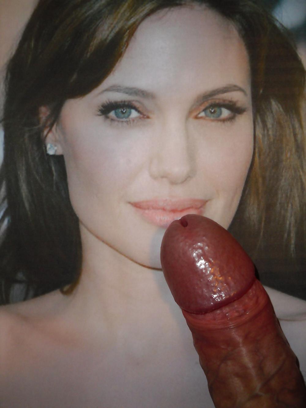 Angelina jolie cum shot porn 1