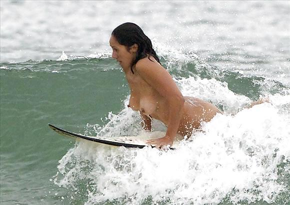 Nude surfer marama kake makes waves on sunshine coast with