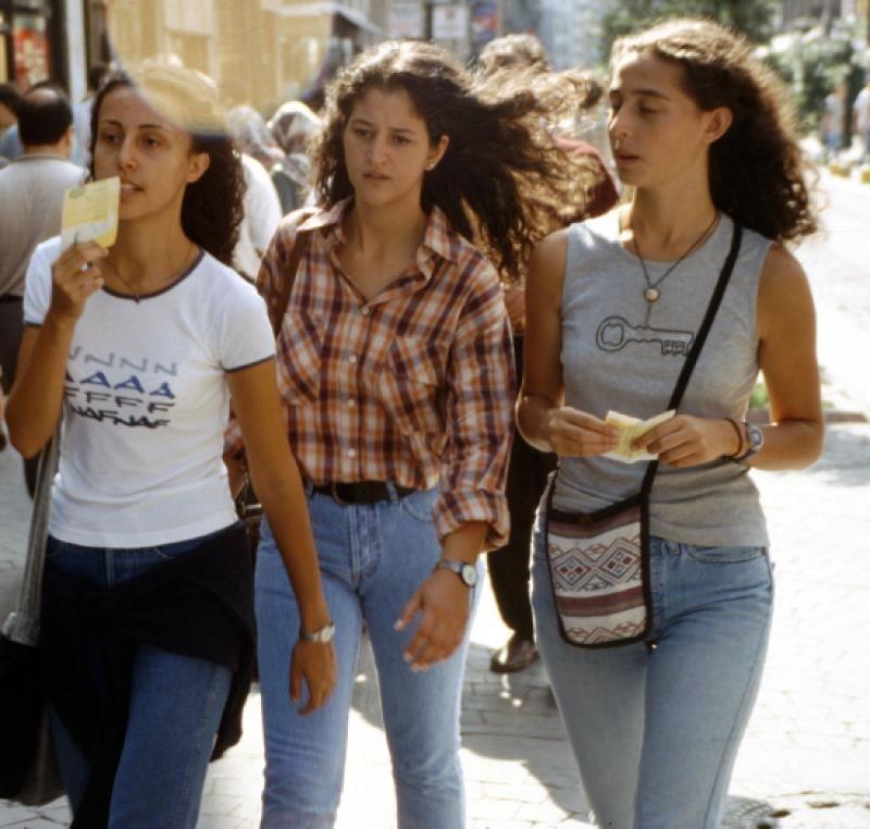 Girls in skinny pants