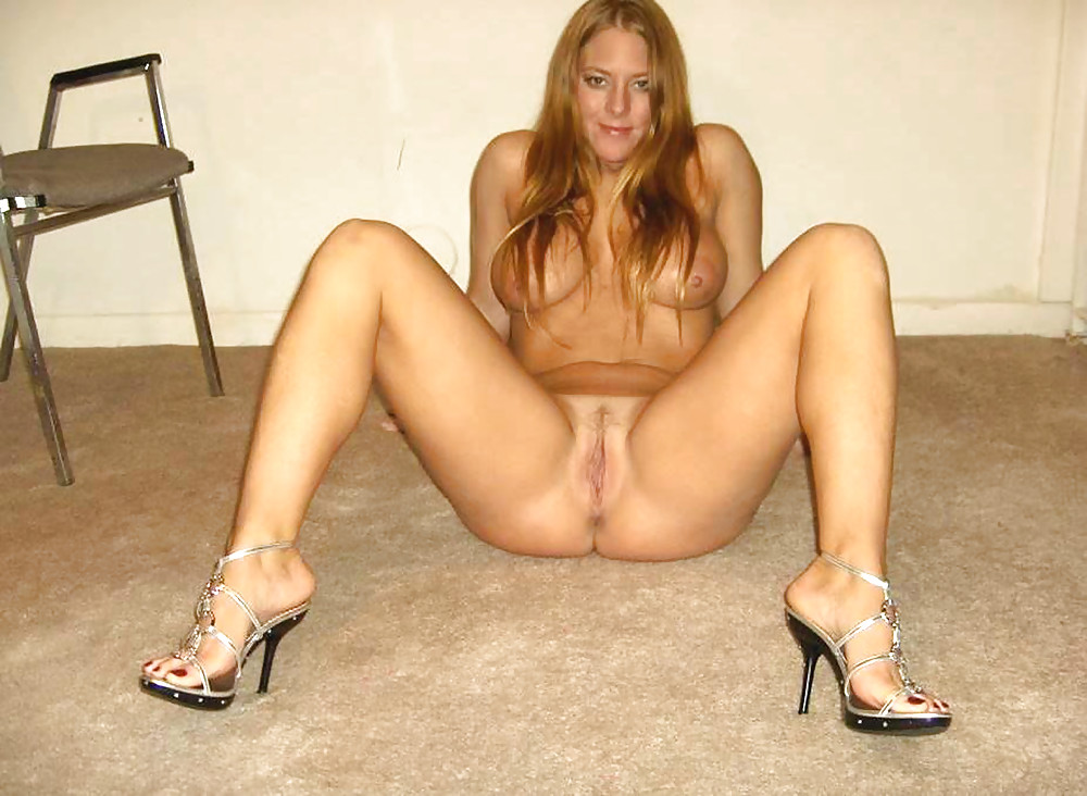 Amateur naked in heels #3
