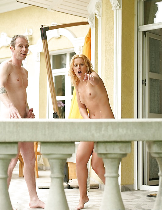 Hot neighbor walks around naked and doesn't care