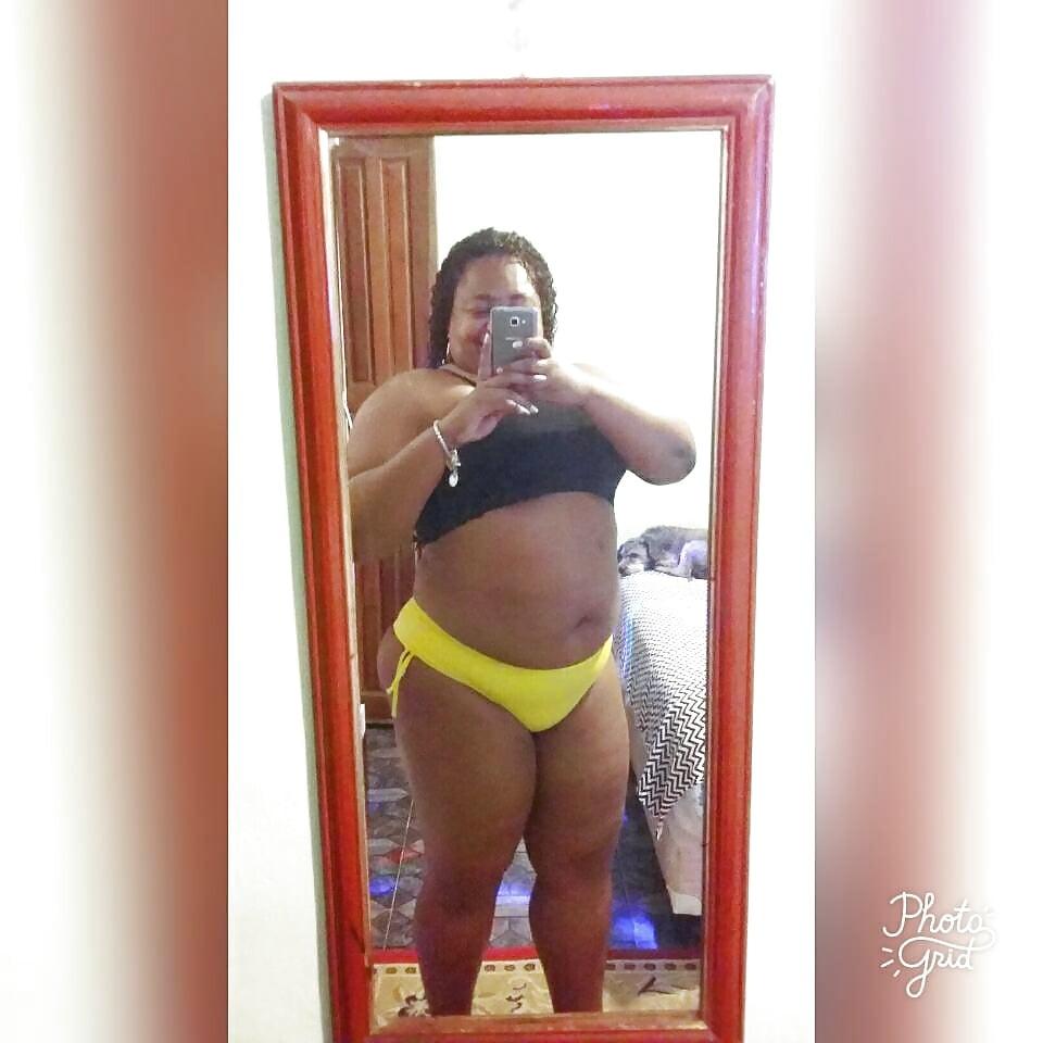 Chubby black big tits