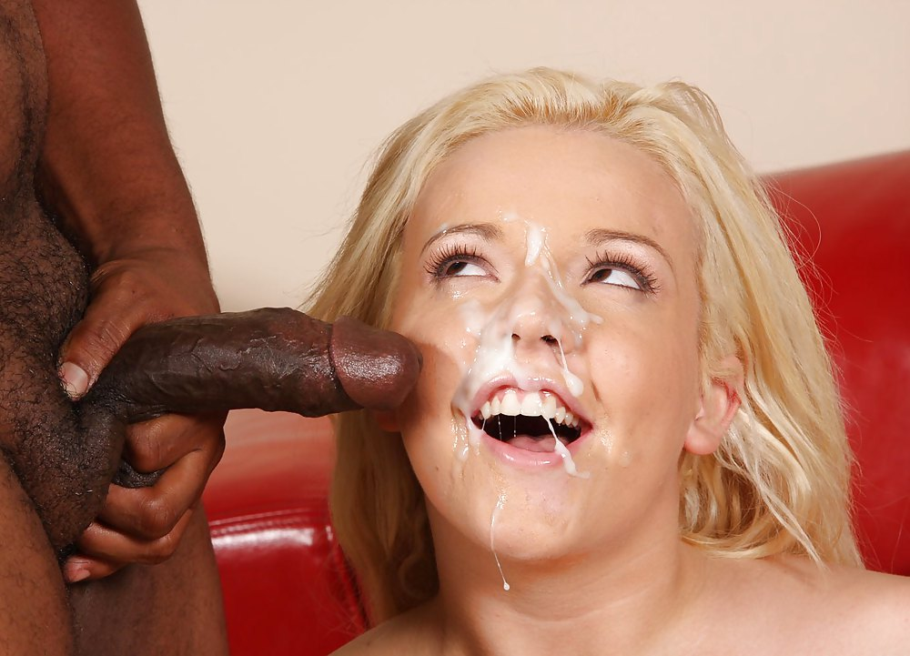 Cum interracial oral shot