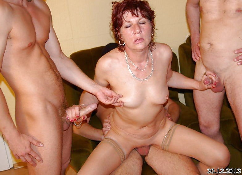 Mature woman getting gang bangtures, young innocent blowjob