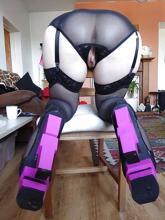 open crotch panties and amazing shoes