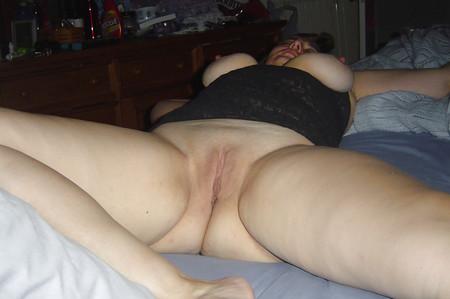wife spreading her legs