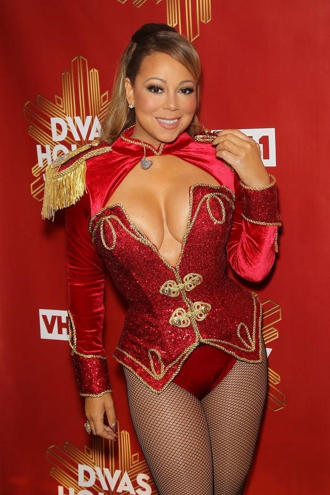 Mariah carey in black latex