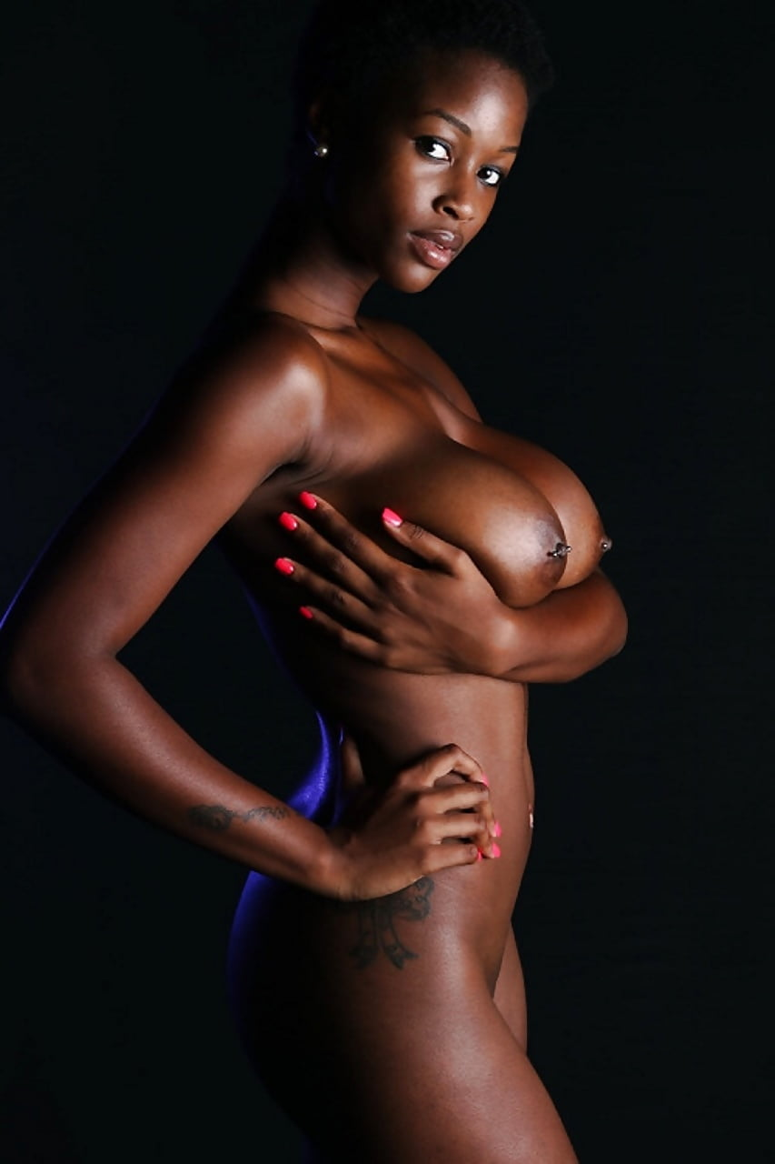 Nude ebony model