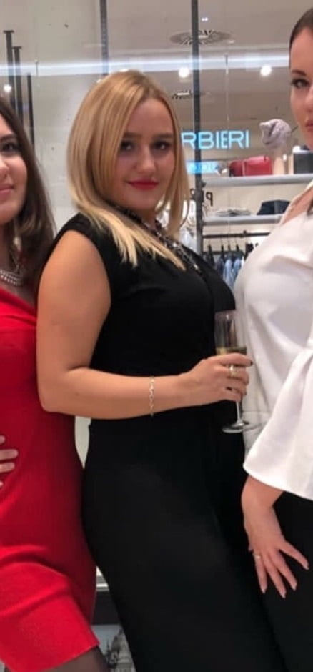 Chubby blonde big tits