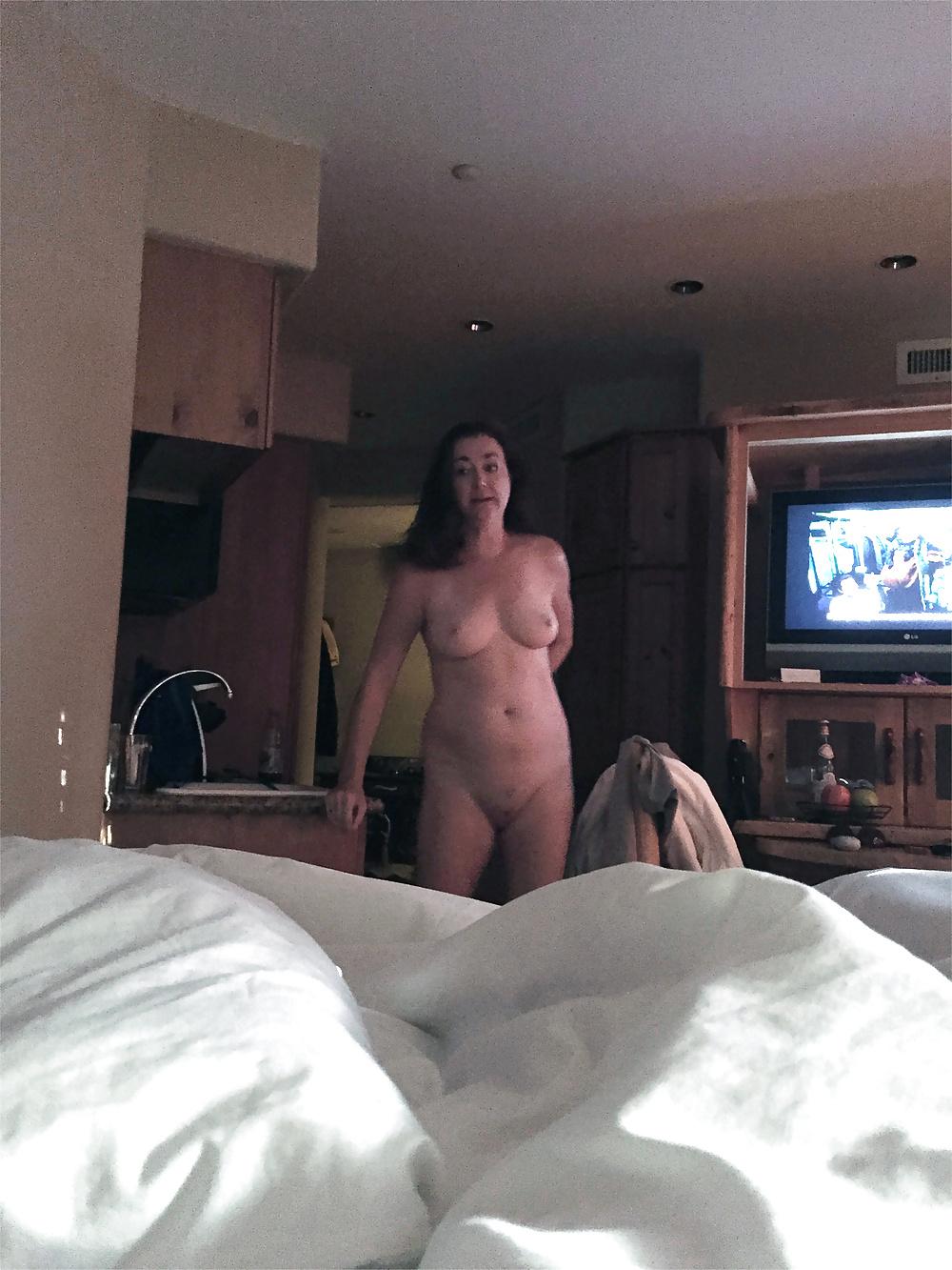 Embarrassed Nude Milf Hotel Room