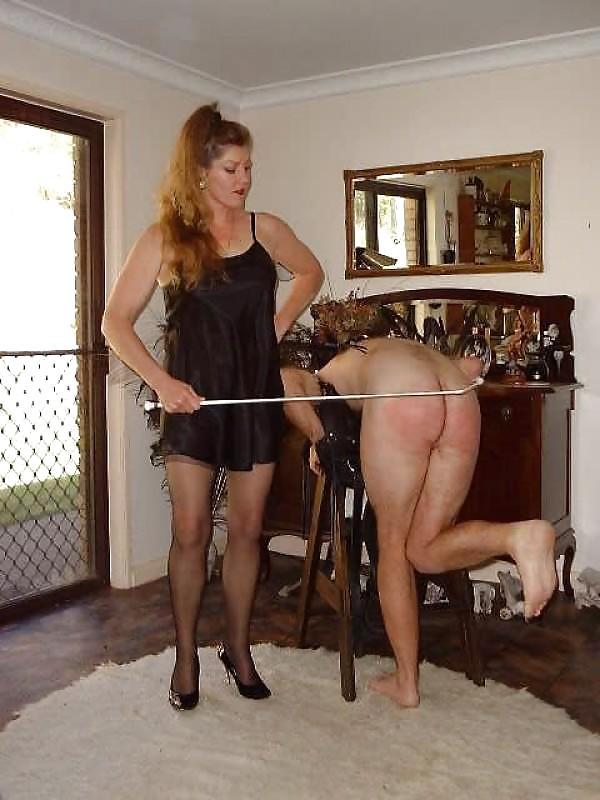 Wife canes husband femdom — pic 11