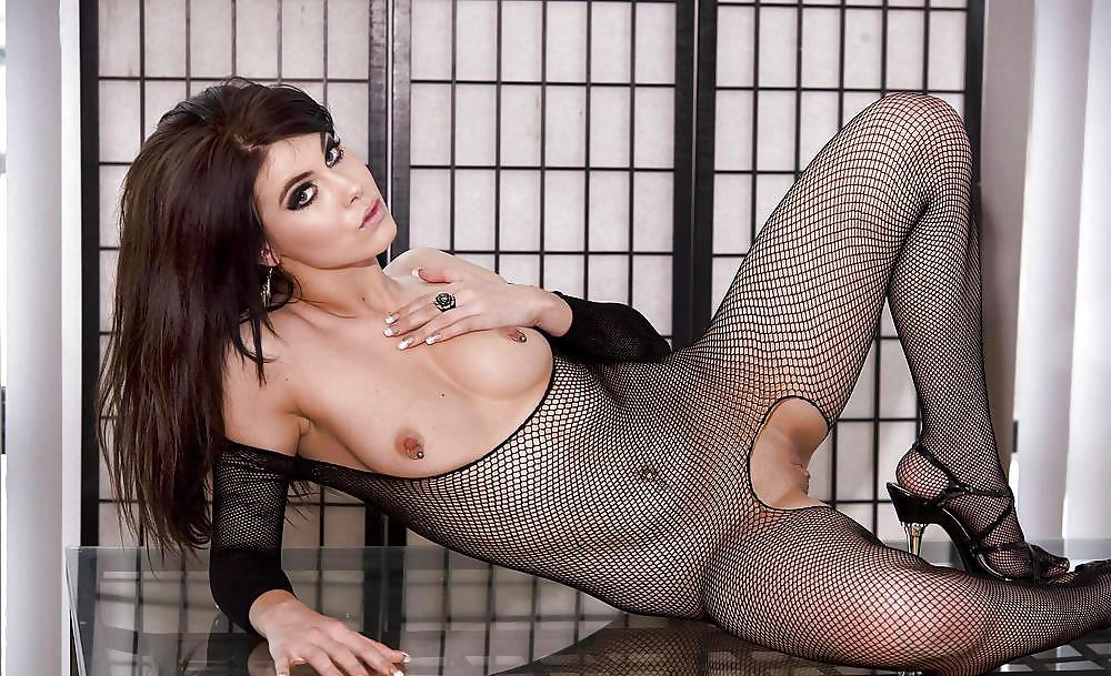 Beautiful Shemale In Bodystocking PornDish 1