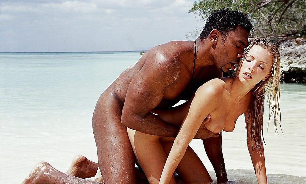 Babes sex black on blond beach sex ass black pussy