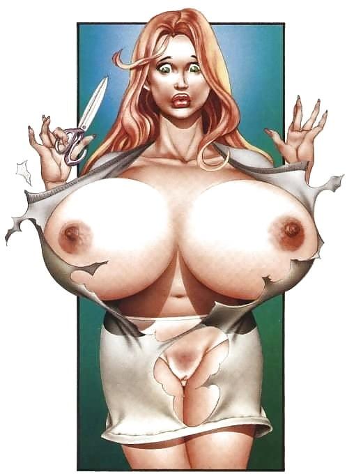 рисунки голые девушки с большими сиськами участники
