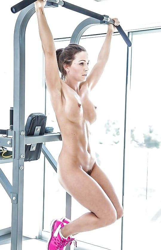 Topless naked gym girl #3