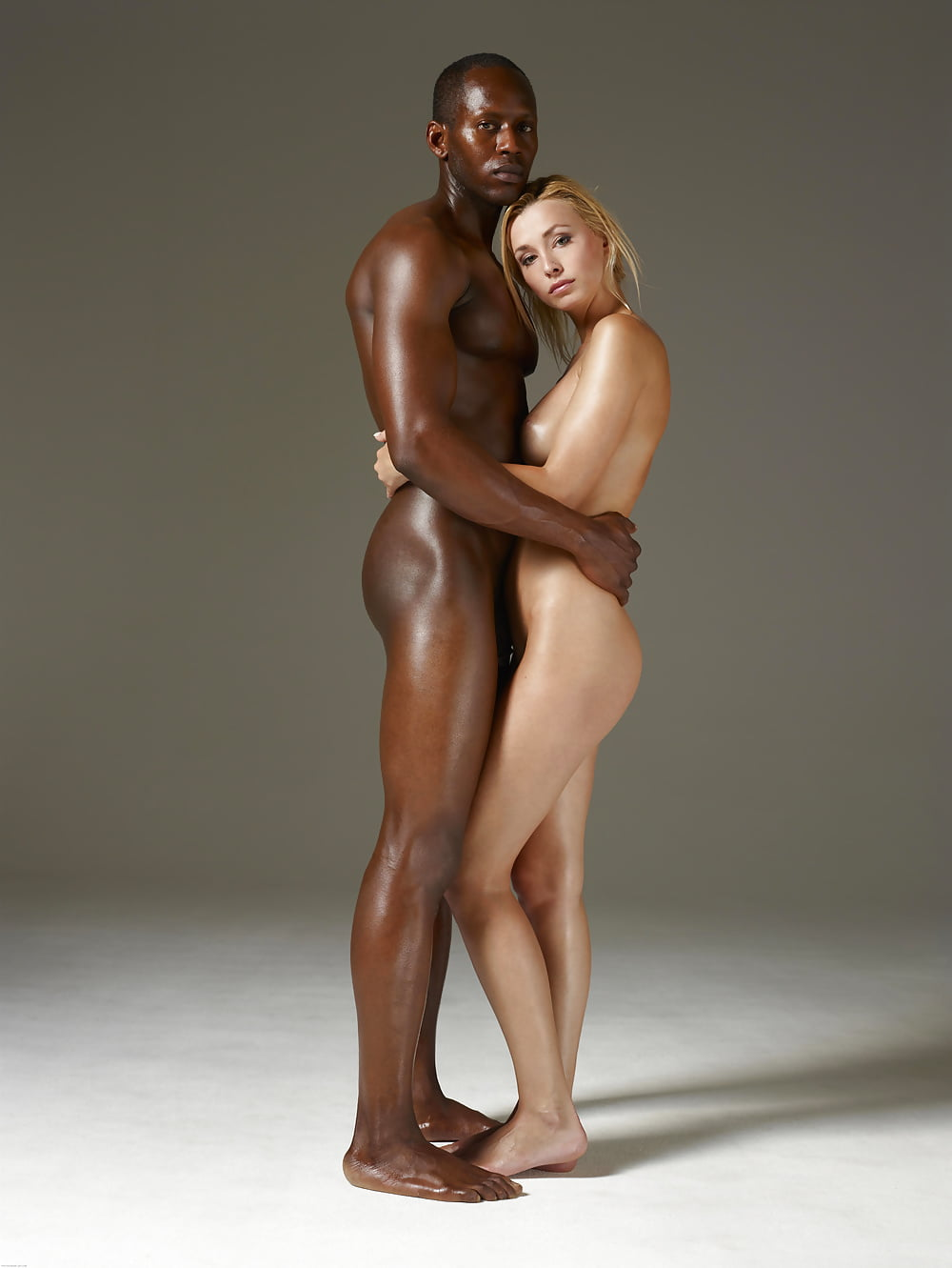 Hot girl with black man nude — 3