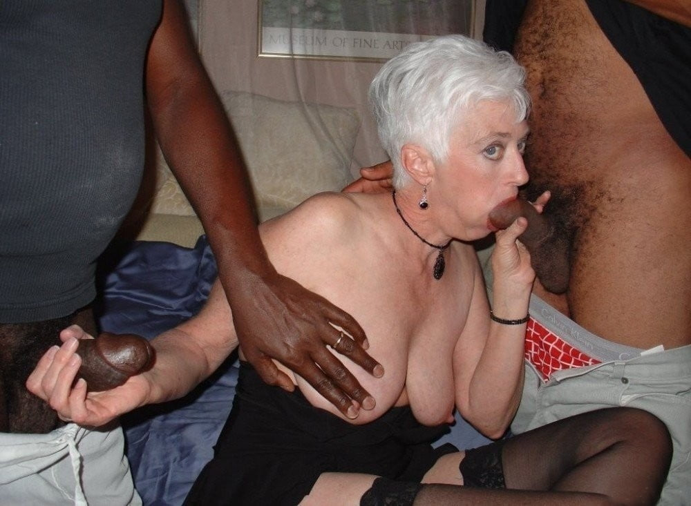 Granny loves big black cock