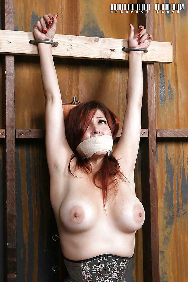 Girl tied up by her boobs naked — photo 15