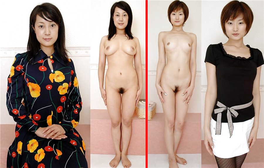 Mature asian dressed and undressed