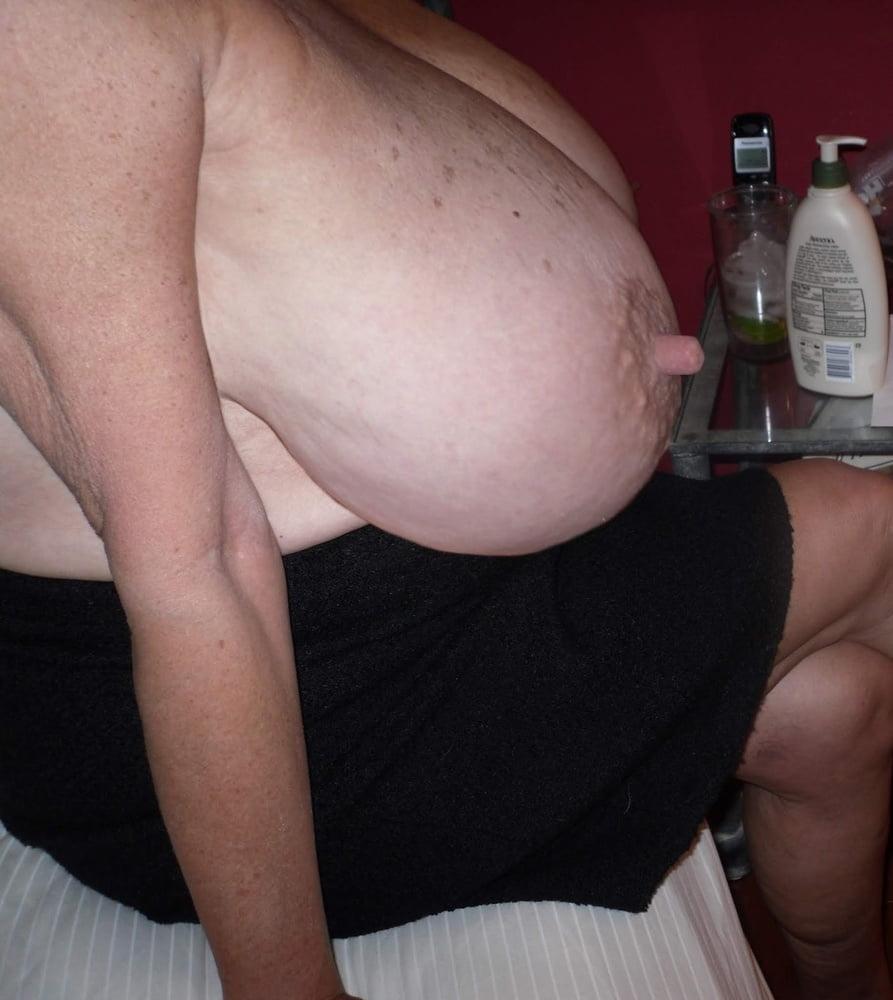 Huge natural boobs mature