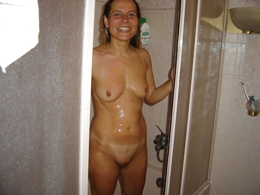Nude shower wife