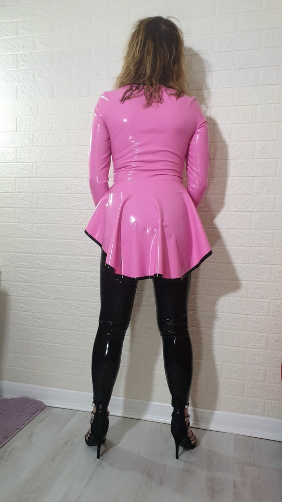 Pink Riding Jacket and Black Leggings from Latex and Lovers - 19 Pics