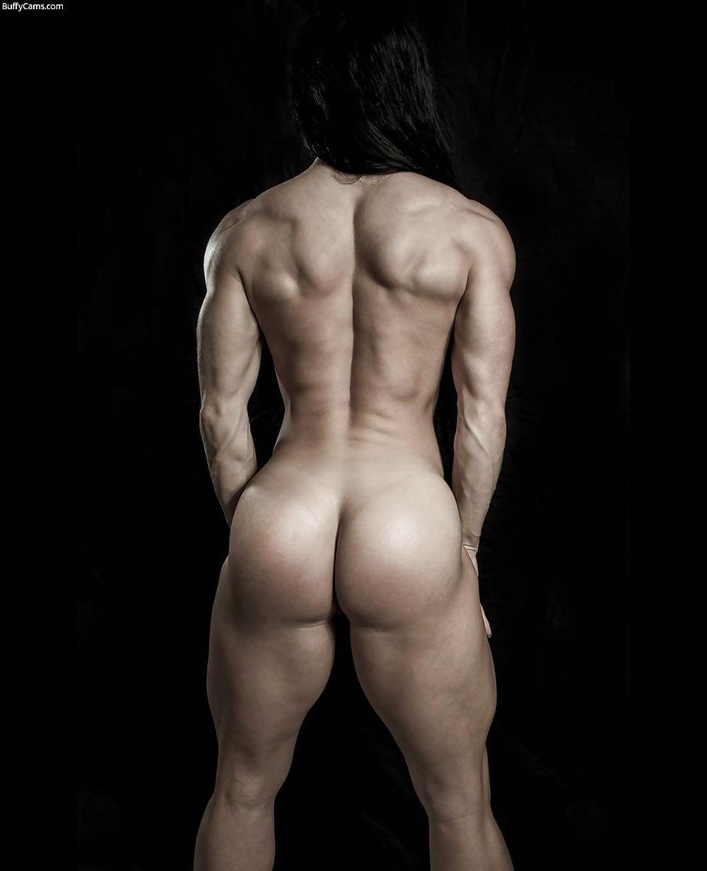 Muscular nude ass woman