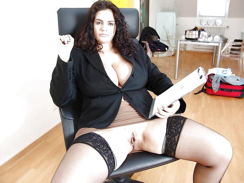 Nude mature business women