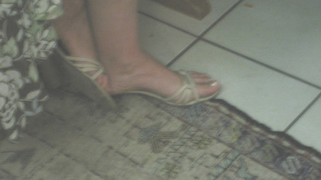 I love the sexy feet of my wife E