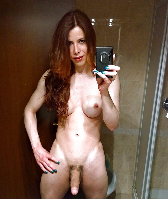 Selfshot naked tranny ass — 4