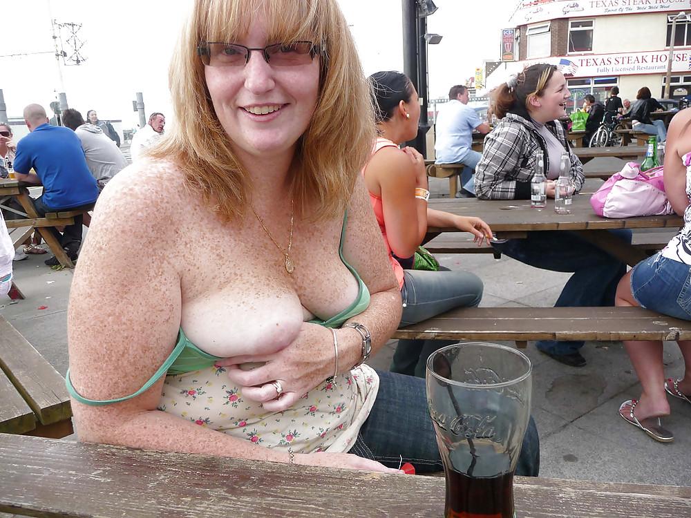 Public nipple slip