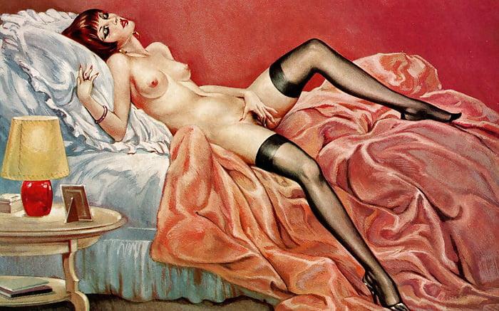 Vintage sculpture naked lady brass ashtray nude woman erotic art deco figurine