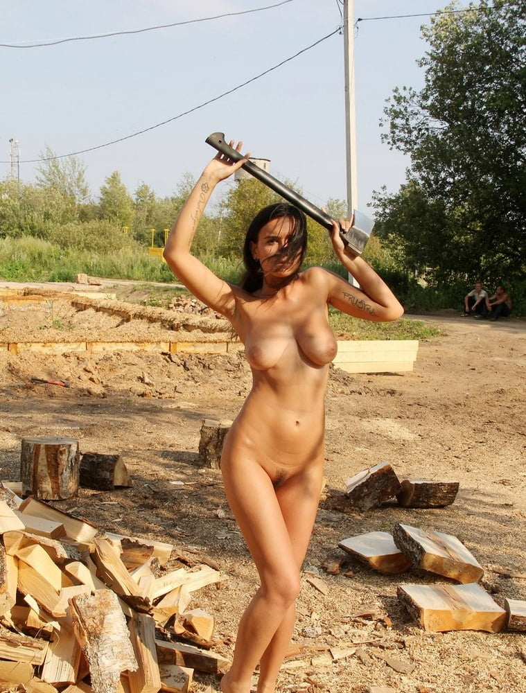 Nude construction worker girl