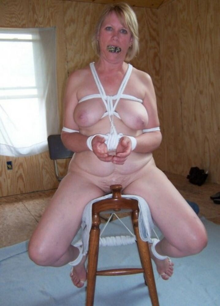 Naked mature tied up