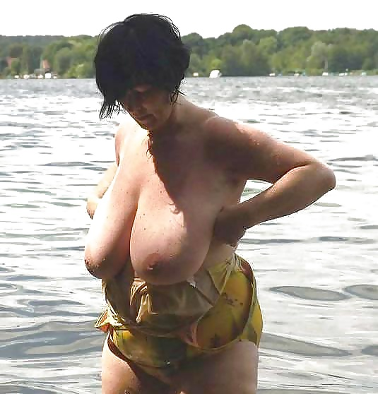 Mature big tits at beach pics Old Ladies With Big Tits In A Swimsuit On The Beach 50 Pics Xhamster
