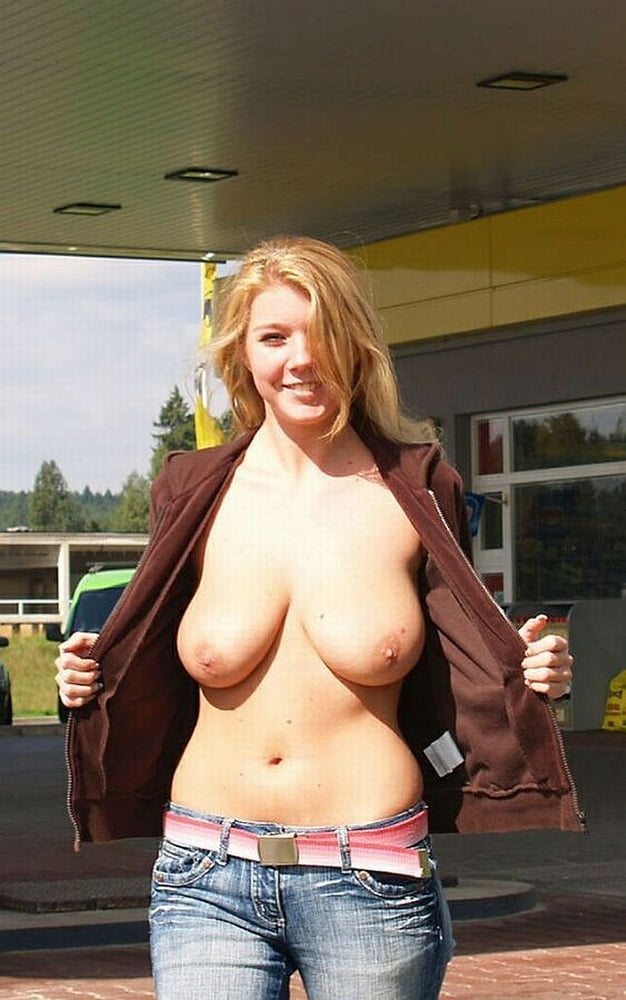 Women with big boobs having sex in public — photo 7