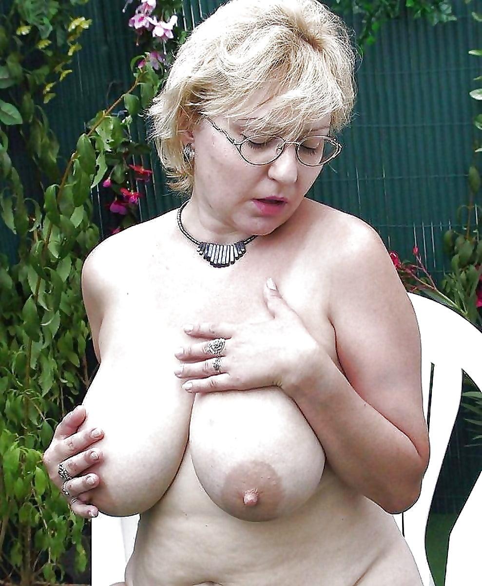 Grandma naked on the deck