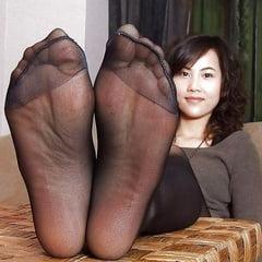 Nylon feet asian Foot fetish: