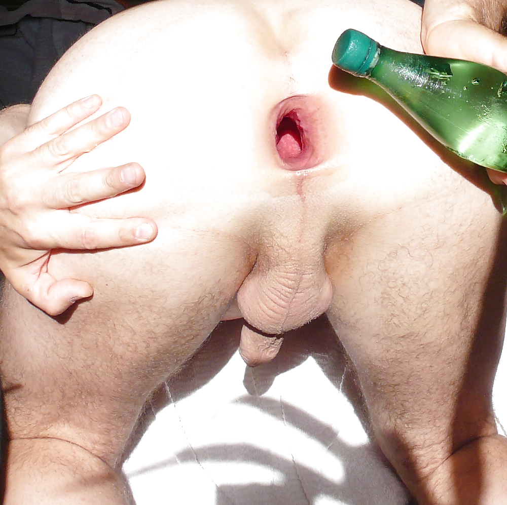 Masked girl anna gets many huge bottles in gaping pussy and anal full hd